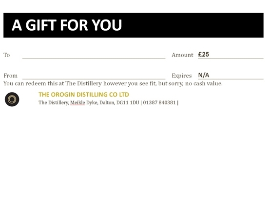 OROGIN Gift Voucher £25
