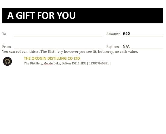 OROGIN Gift Voucher £50
