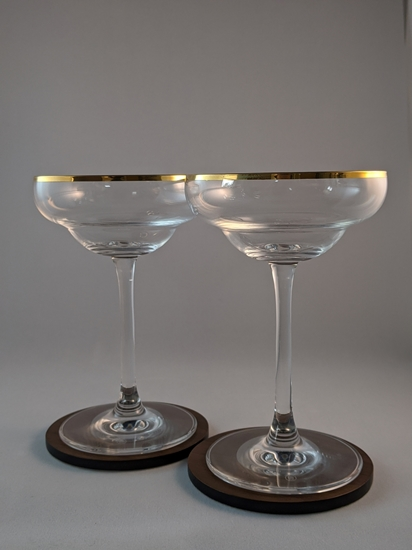 Picture of 1920's Styled Gold Rim Coupe Pair