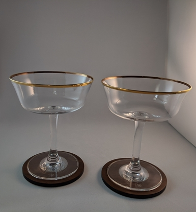 Picture of 1920's Styled Gold Rim Frizzante Pair
