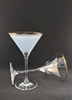 Picture of 1920's Styled Gold Rim Martini Pair